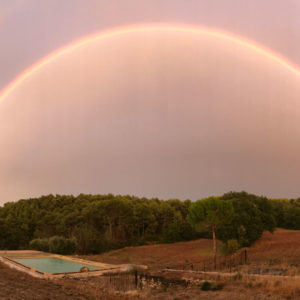 piscine arc-en-ciel